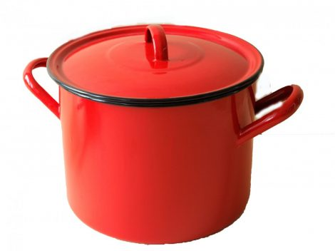Enamelled Pot with lid 26 cm 9,5 L Red