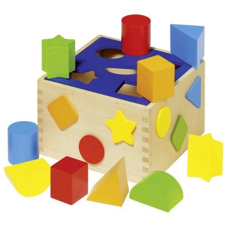 Sorting cube wooden