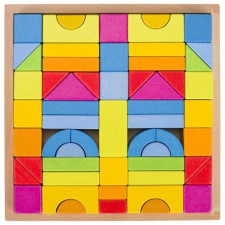 Bausteine Regenbogenfarben, Holzspielzeug