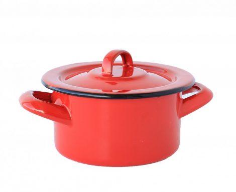 Enamelled pot 12 cm  0,7L, red