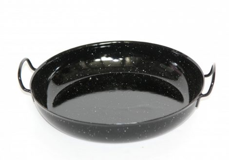 Emaille Pfanne, Schwarz, 24 cm