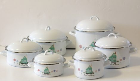 12 pieces Enamelled Potset Home Sweet HOme