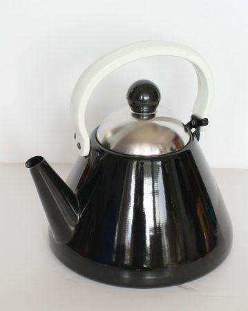 Emaille Teekessel, 1,5 L, schwarz v.2