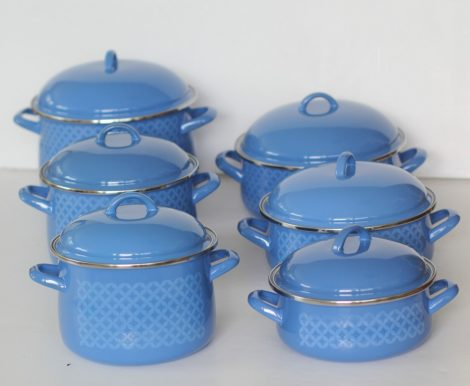 12 pieces Enamelled Potset Nordsee