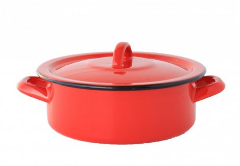 Enamel Pot 18 cm  1,5 L Red