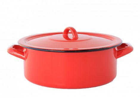 Enamel Pot  24 cm  4 L Red