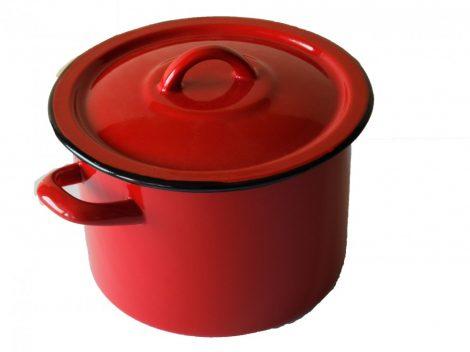 Enamel Pot 18 cm 3 L Red