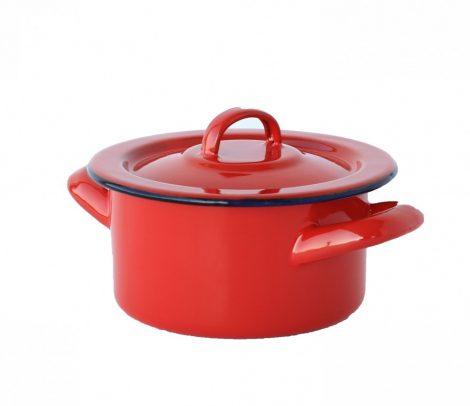 Enamelled Pot 12 cm  0,5 L REd