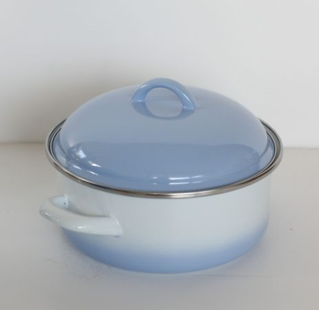 Enamel Pot 20 cm  2,5 L  Blue-White