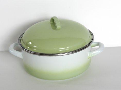 Enamel Pot 20 cm  2,5 L  Green-White