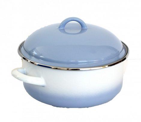 Enamelled Pot 22 cm  3,5 L Blue-White