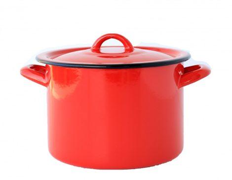 Zománcos fazék piros 20 cm 4,5 L