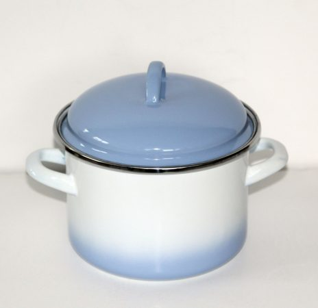 Emaille Topf Blau-Weiss, 16 cm - 2 L