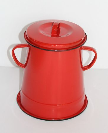 Emaille Schmalztopf, 2 L, Rot
